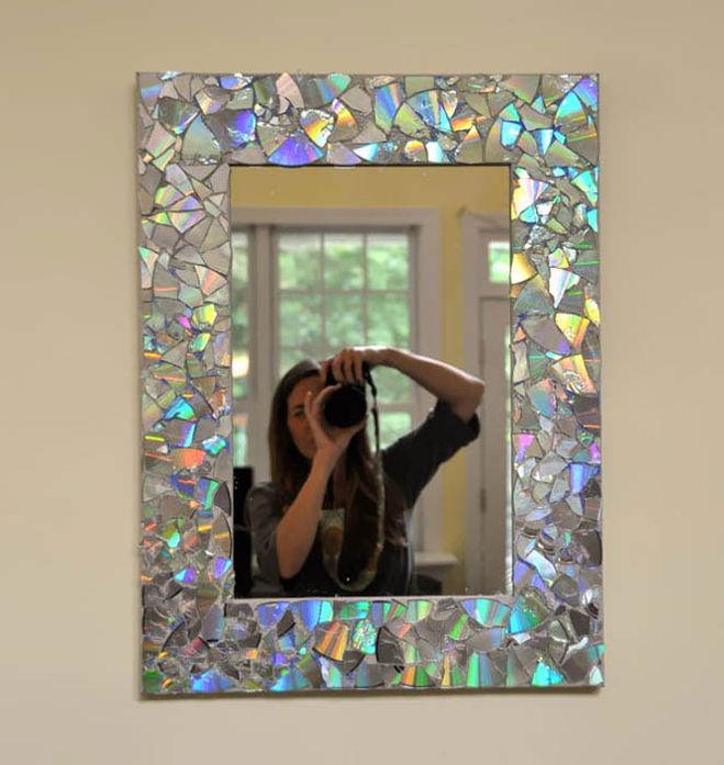 Декорирование рамки для зеркала своими руками