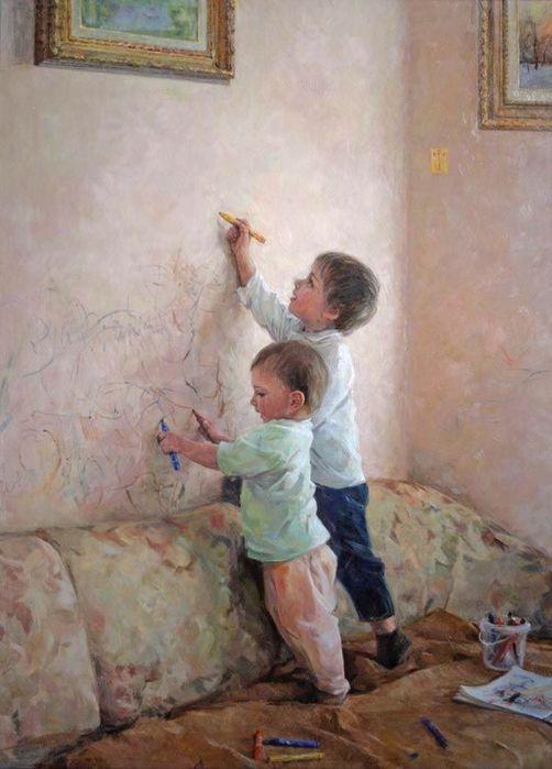 Художники рисующих детей