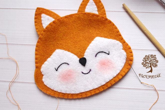сшить лису,  лисичку из фетра