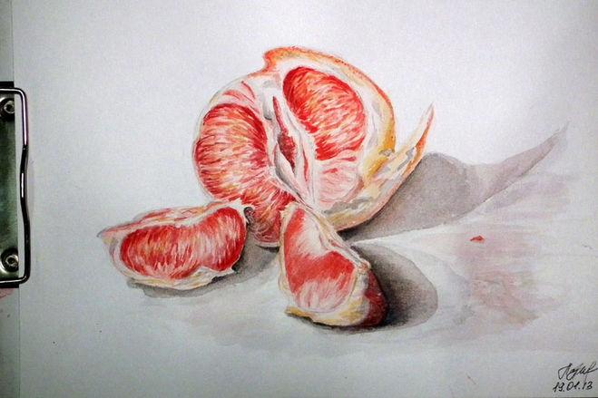 Рисуем фрукты акварель поэтапно