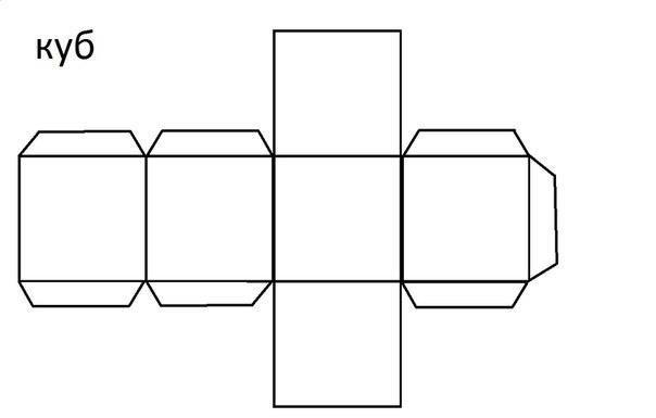Как сделать квадрат из бумаги схема а4