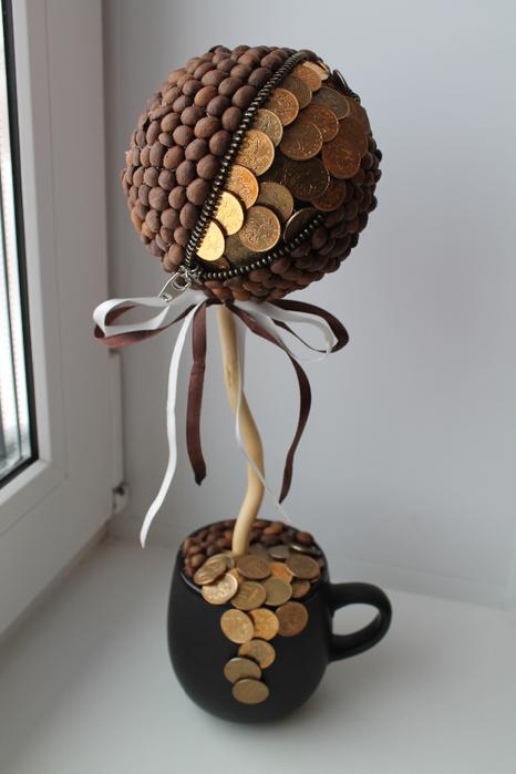 Денежное дерево с деньгами своими руками