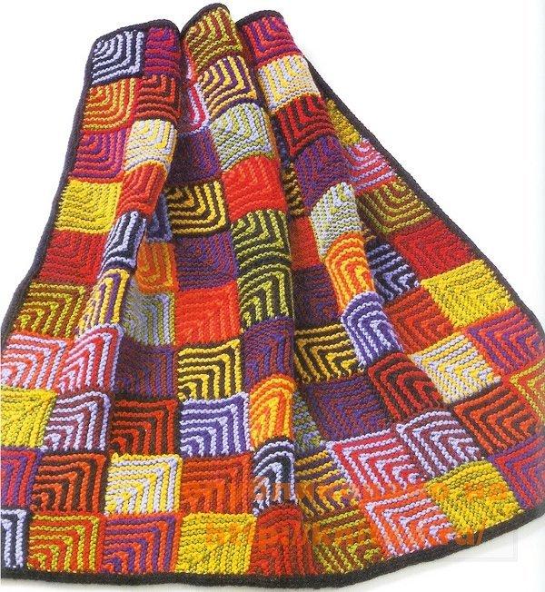Вязаное одеяло своими руками схемы