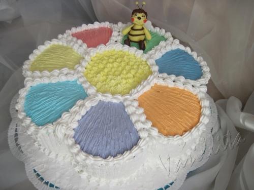 Украсить детский торт своими руками кремом