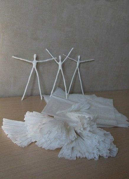 Как сделать балерину из бумаги и проволоки