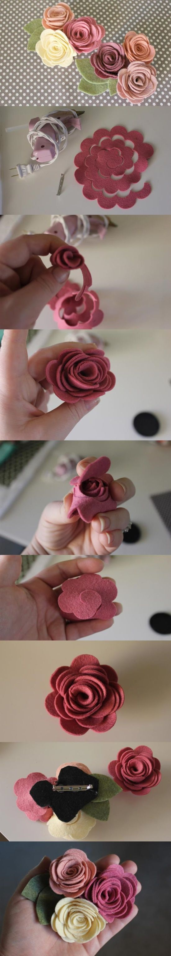 роза из фетра мастер-класс своими руками