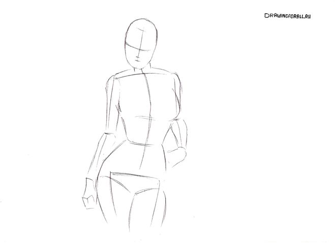 Сексуальную девушку рисовать поэтапно