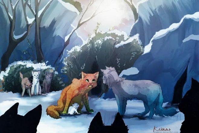 Коты воители крутобок синяя звезда белохвостый огонек огнегрив