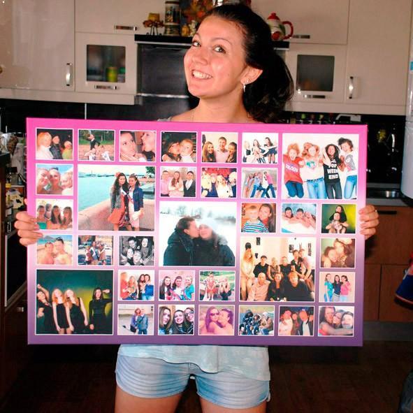 Коллаж изграфий своими руками на ватмане на день рождения подруге