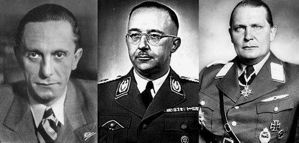 Геббельс, Гиммлер, Геринг, СС Германии
