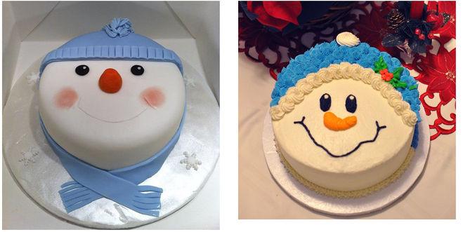 торт типа снеговика