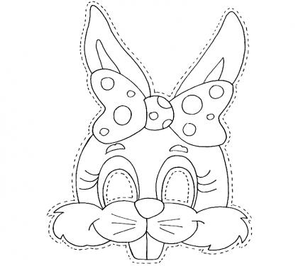 Как сделать маску зайца.