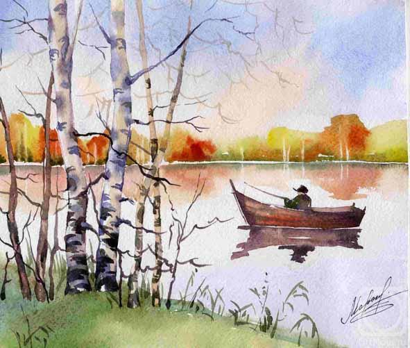 Как нарисовать пейзаж гуашью поэтапно
