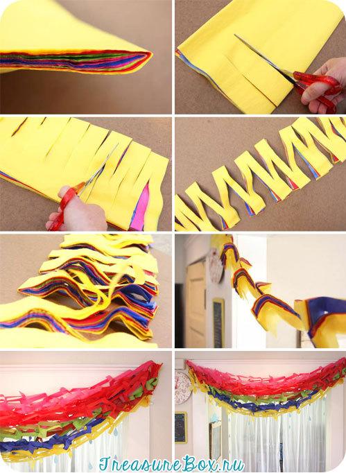 Как сделать гирлянды бумажные