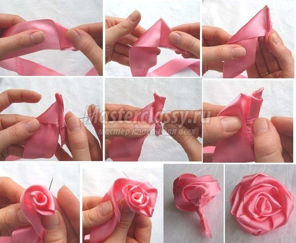 Мастер-класс как сделать розу из ленты
