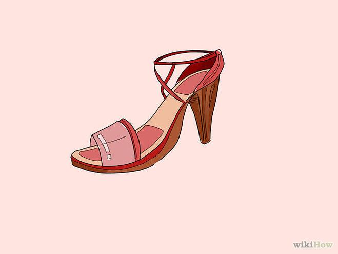 нарисовать туфли 7