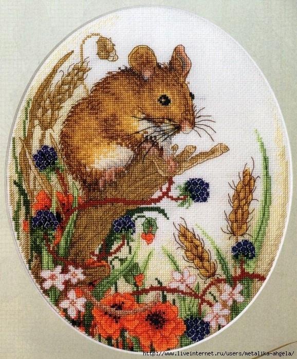 Год крысы вышивка крестом