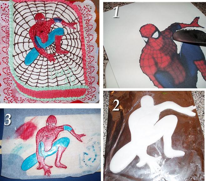 Как сделать человека паука из мастики своими руками 26