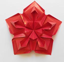 звезда оригами на день Победы и 23 февраля