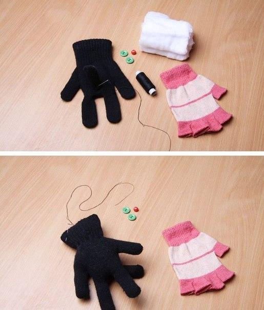 Как сделать игрушки из перчаток