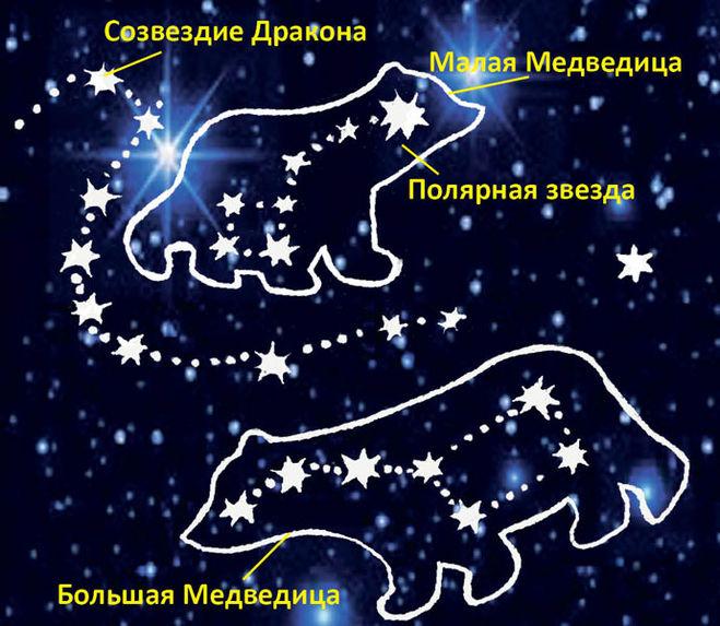 Расположение большой медведицы осенью картинки