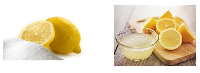 сок лимона и лимонная кислота