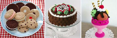 вязаный десерт своими руками