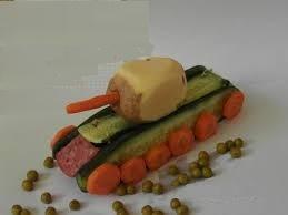 Поделка из овощей танк