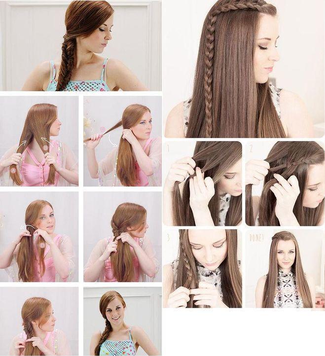 Прическа своими руками на средние волосы с челкой видео