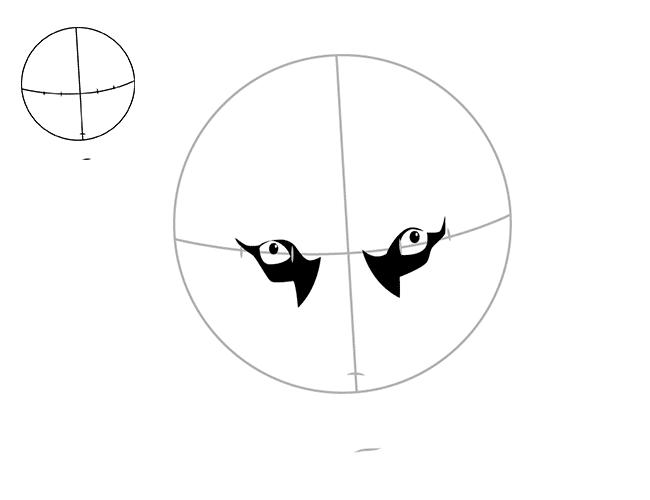 в середине круга рисовать