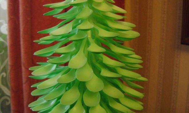 Оригинальная елочка своими руками из подручных материалов