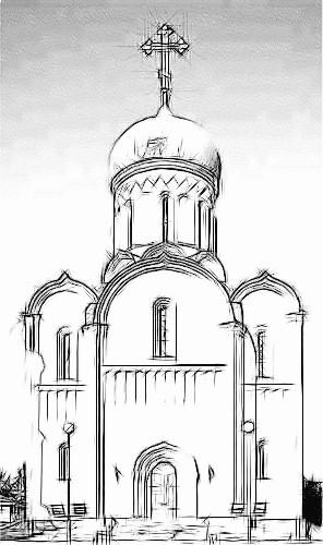 Нарисовать православный храм поэтапно
