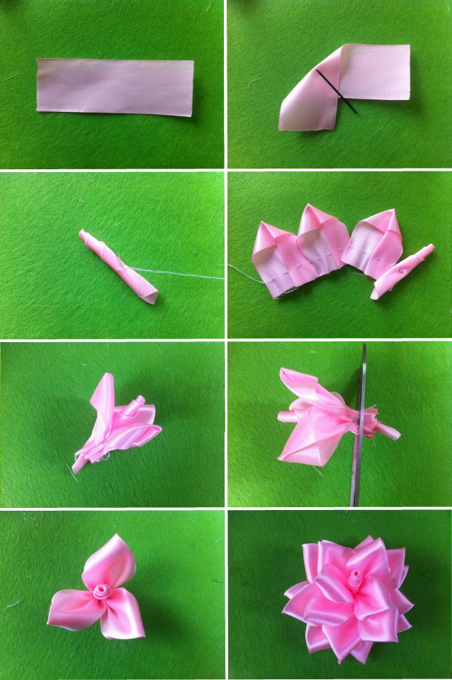 Как из тесьмы сделать цветок