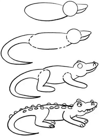 Рисовать крокодила для детей