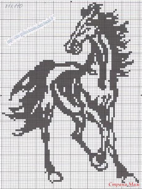 Схема вышивки крестом маленькие черно-белые