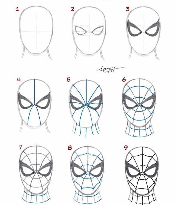 - Dessiner spiderman facile ...