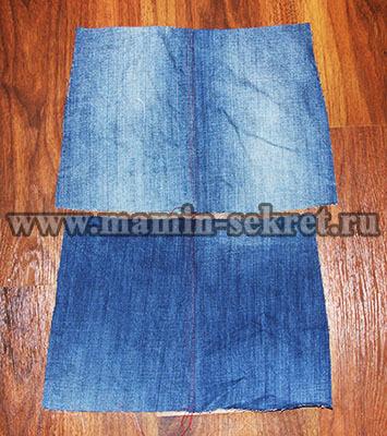Как сшить прямую юбку из джинсов 176