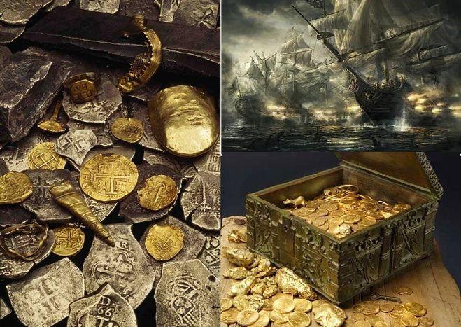 Какие знаменитые пиратские сокровища еще не подняли с океанс.