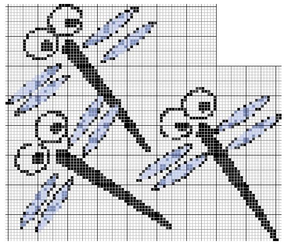 Схемы вышивки на холсте 997