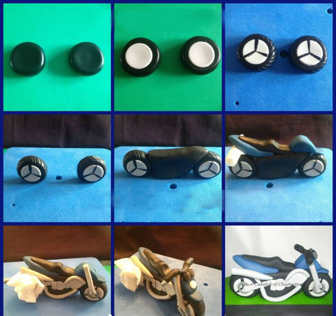 Мотоцикл из пластилина мастер класс