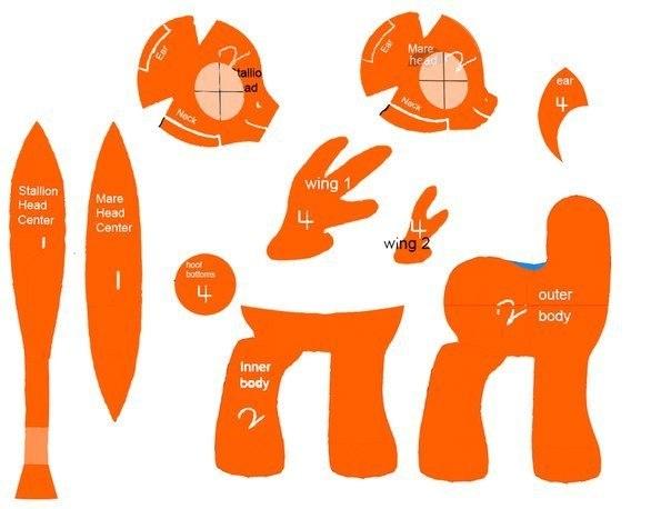 Игрушка пони своими руками выкройки 25