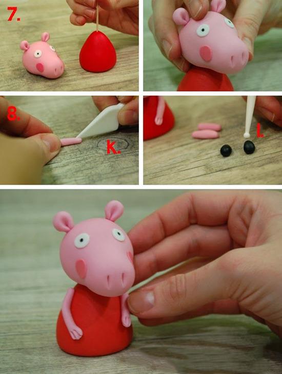 Как сделать из пластилина свинку пеппу