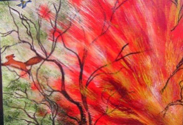 рисунок пожар