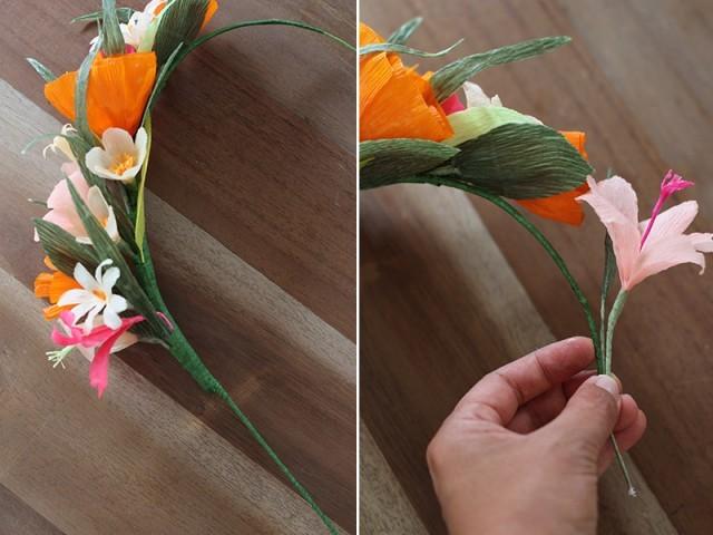 Искусственные цветочки сделанные своими руками5