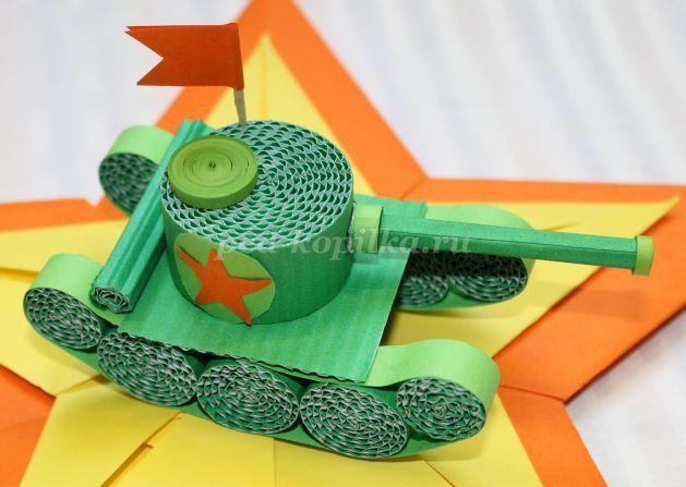 Поделка танк для детского сада