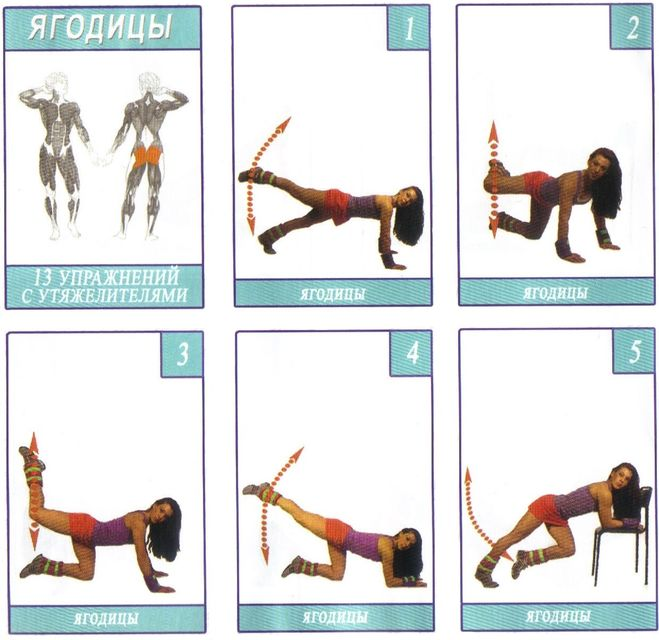 Комплекс упражнений на ягодичные мышцы в домашних условиях