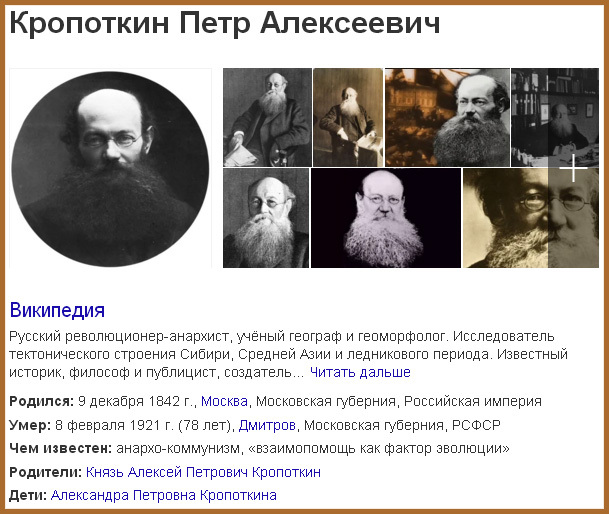 Князь Кропоткин Пётр Алексеевич