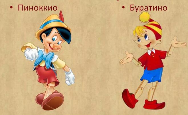 Пиноккио и Буратино