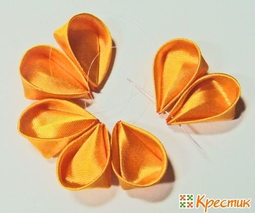 Мастер класс апельсин канзаши