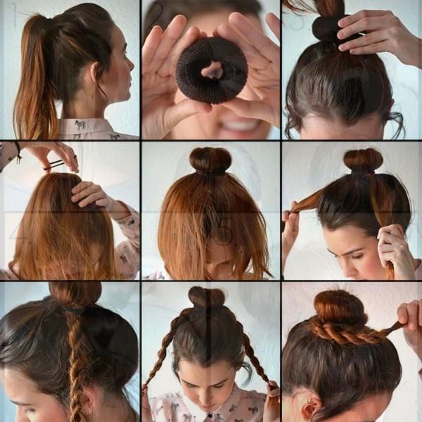 Как сделать шишку на волосах